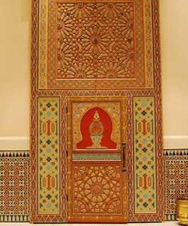 Moroccan Painted wood door