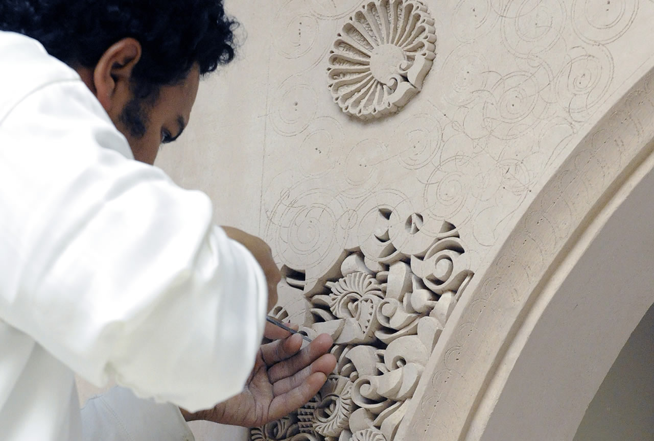 moroccan carved plaster