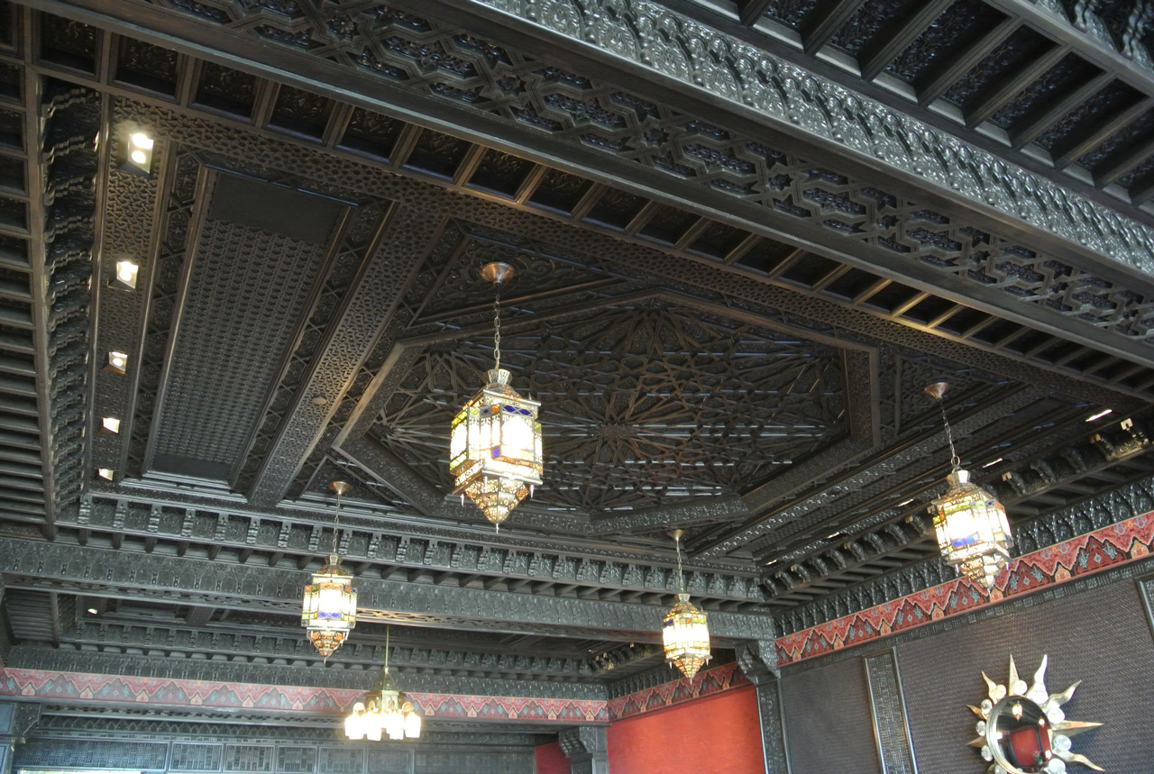 Moroccan wood ceiling